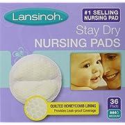 Lansinoh Stay Dry Nursing Pads Medium 36 Each (Pack of 2)