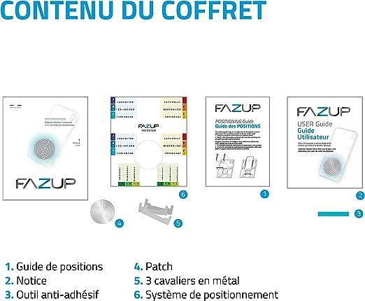 FAZUP - Parche Anti Ondas Móviles - Protección Electromagnética EMF, Anti Radiaciones - Reduce hasta un 96% Tu Exposición a Las Ondas - Fabricado y ...