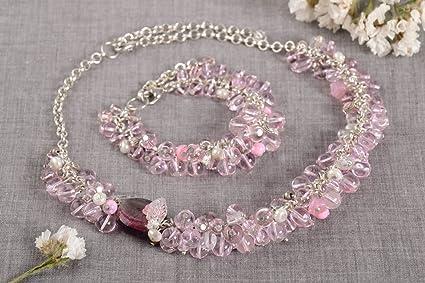 7be4db1236fe Collar y pulsera originales de cristal bisuteria artesanal regalo original   Amazon.es  Hogar