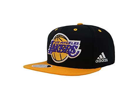 374d75dc875b3d Image Unavailable. Image not available for. Color: adidas Hat Los Angeles  Lakers On Court Snapback Black/Gold ...
