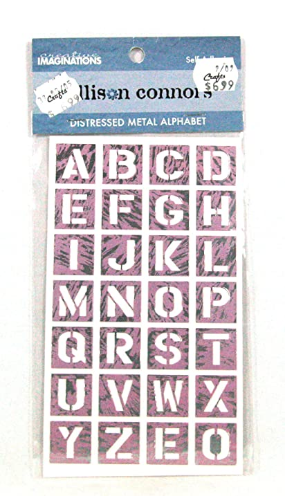 Amazon Creative Imaginations Allison Connors Distressed Metal Extraordinary Decorative Letter Tiles