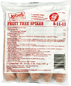 Jobe's 02012 Fruit & Citrus Fertilizer Bag, 5 Spikes per Pack