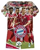 FC Bayern Trikotkalender 2018 - Bayern Kalender, Fankalender Fußball, Fußball Kalender, FC Bayern München Kalender - 34 x 42 cm