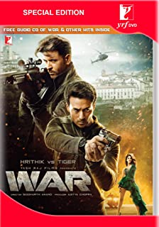 Book Cover: WAR Hindi Hrithik Roshan VS Tiger Shroff - Latest Bollywood Film - ALL Regions NTSC