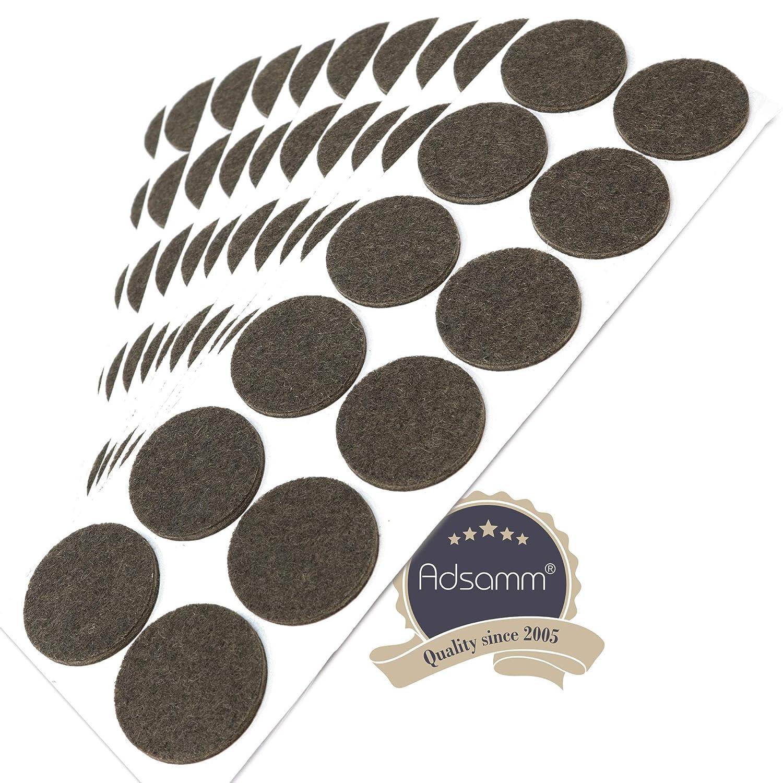 Almohadillas de Fieltro Redondo Ø 26mm Adhesivo Alta Resistencia Desde 4 X Pieza