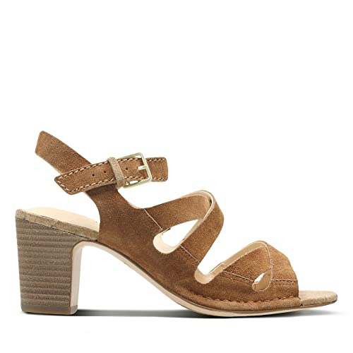 Clarks Spiced Ava Suede Sandals in Tan  Amazon.co.uk  Shoes   Bags