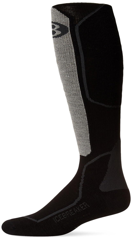 Icebreaker Men's Ski+ Lite Alpine Sock (Oil/Black/Silver, Medium) IBN704