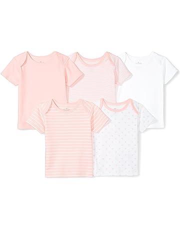 d85b2aada Moon and Back Baby Set of 5 Organic Crewneck Short-Sleeve Shirts