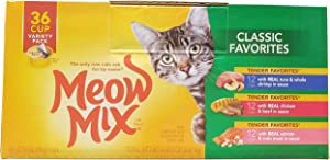 Meow Mix Classic Variety Pack (36 Count Net Wt 99.9 Oz)