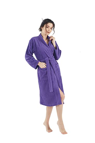 7cd6577d76 Bagno Milano Womens Terry Robe – 100% Pure Turkish Cotton – Kimono-Style -
