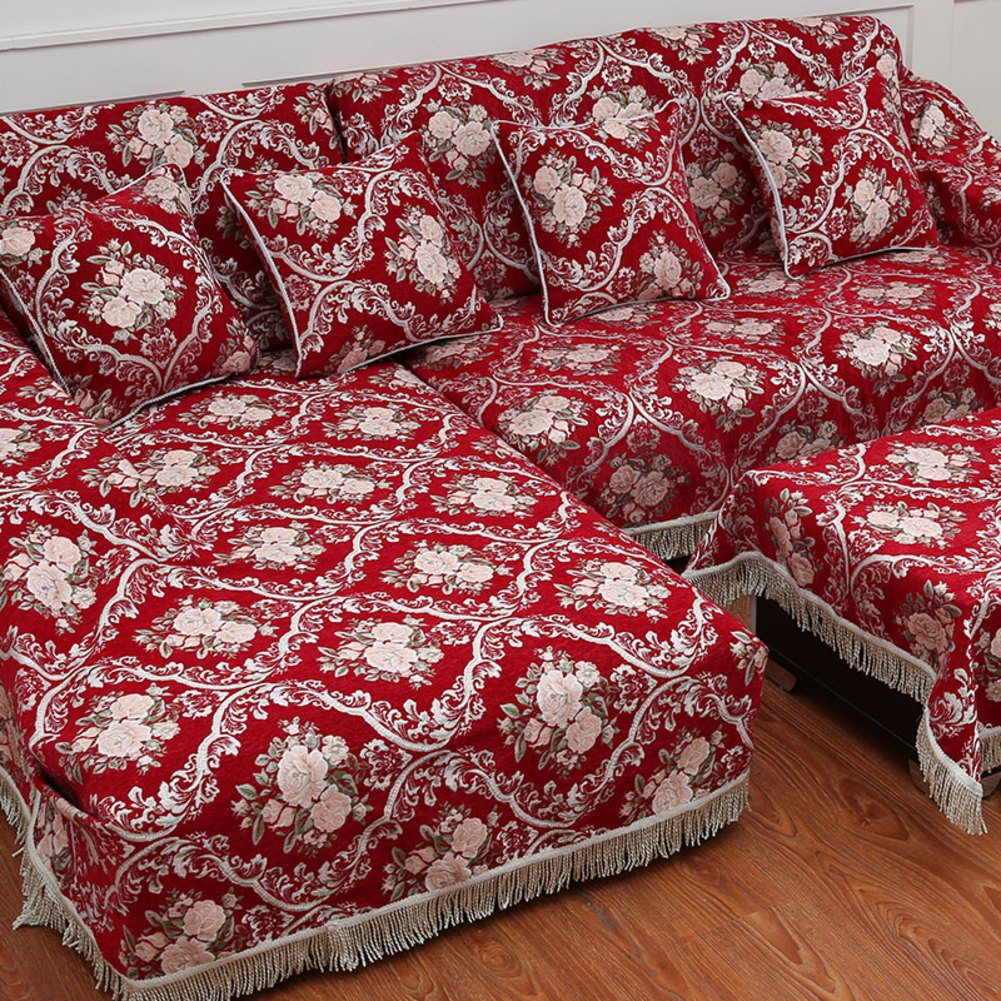 European style sofa cover sofa full cover sofa towel Non slip composite fabric sofa D 180x320cm(71x126inch) by Sofa towel