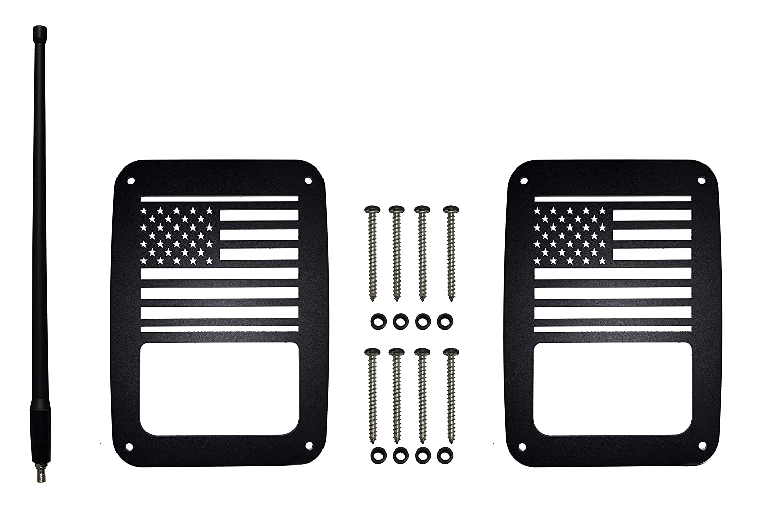 2007-2018 - Precision Made Covers Never Rust Accessories Include All Installation Hardware for JK and JKU Sugar Skull VroomTec Jeep Wrangler Aluminum Tail Light Guards