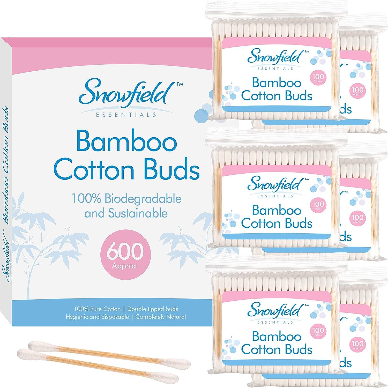 600 Bastoncillos ecologicos (6 x 100) Snowfield | Bastoncillos de ...