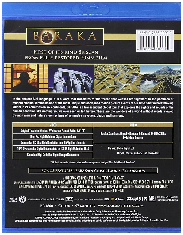 Baraka [Alemania] [Blu-ray]: Amazon.es: Ron Fricke: Cine y ...