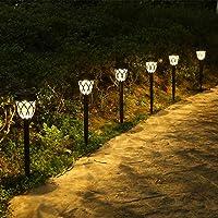 Lámpara Solares para Jardín, Tomshine Luces Solares Jardín, 6 piezas Luz Exterior…