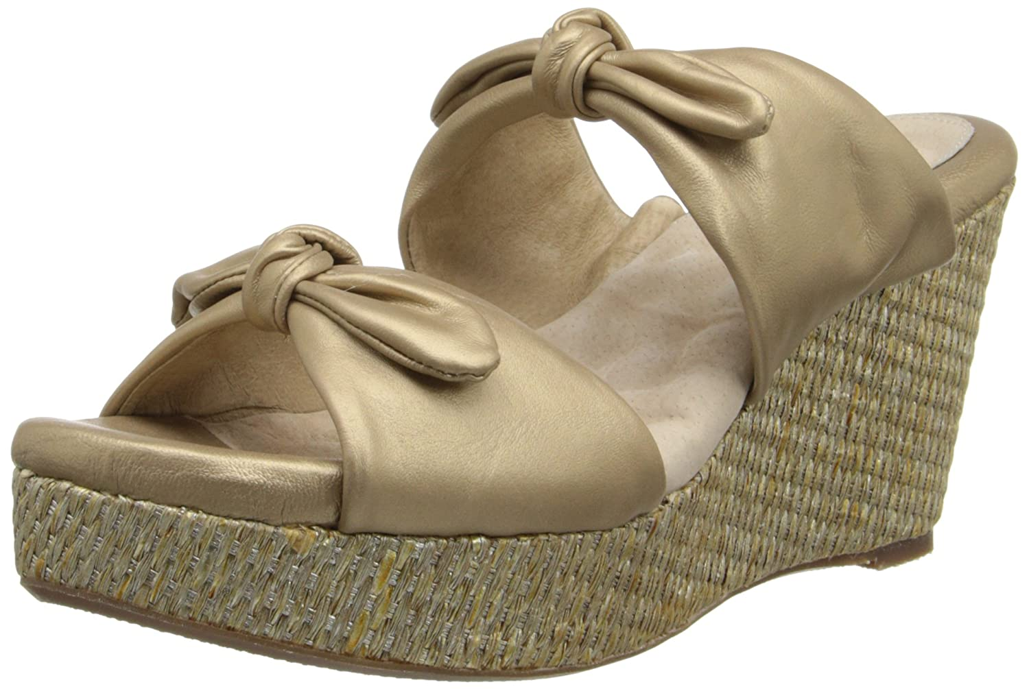 SoftWalk Women's Sunnyvale Wedge Sandal B00DR18MUY 12 2A(N) US|Gold Wash