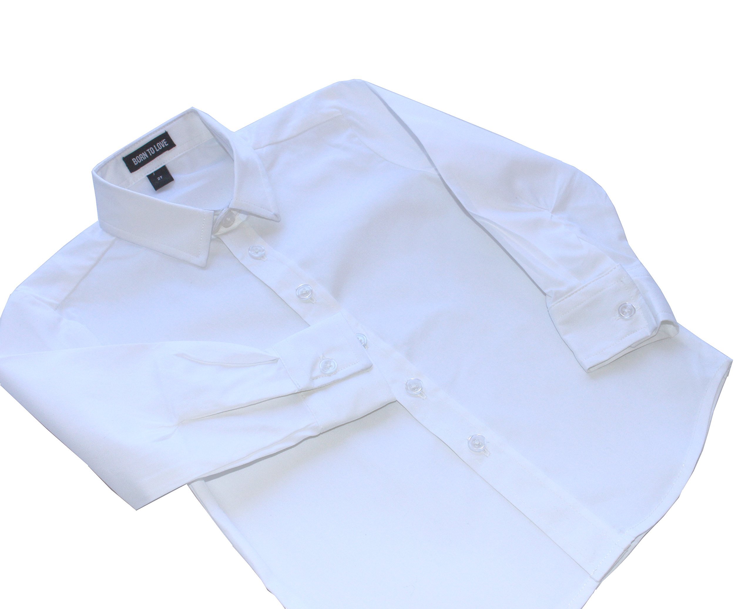 Born to Love - Wedding Baptism Birthday White Button-Up Shirt - Infant, Toddler & Boys 2T by Born to Love (Image #6)