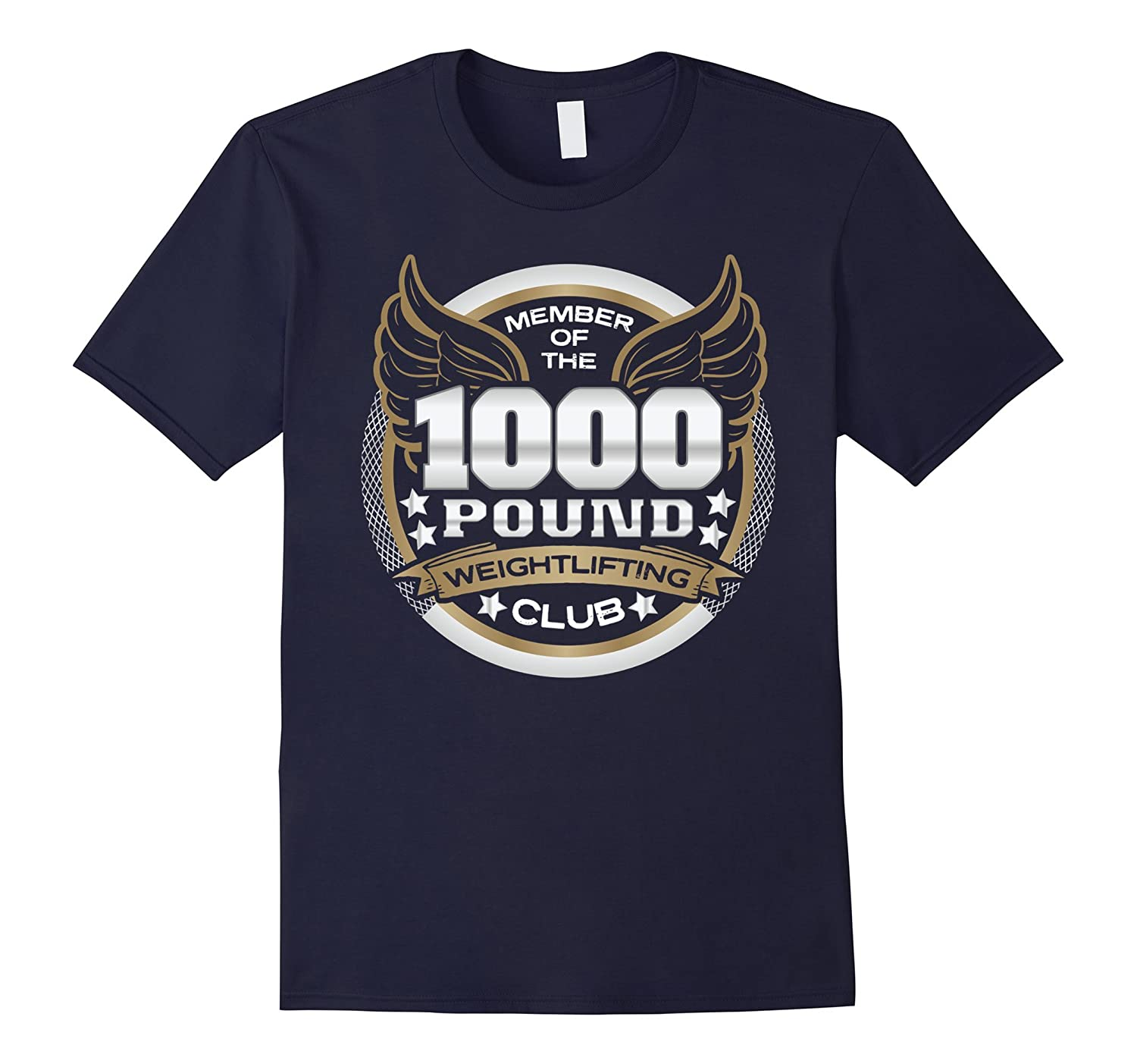 1000 Pound Weightlifting Club Member T-Shirt-TJ