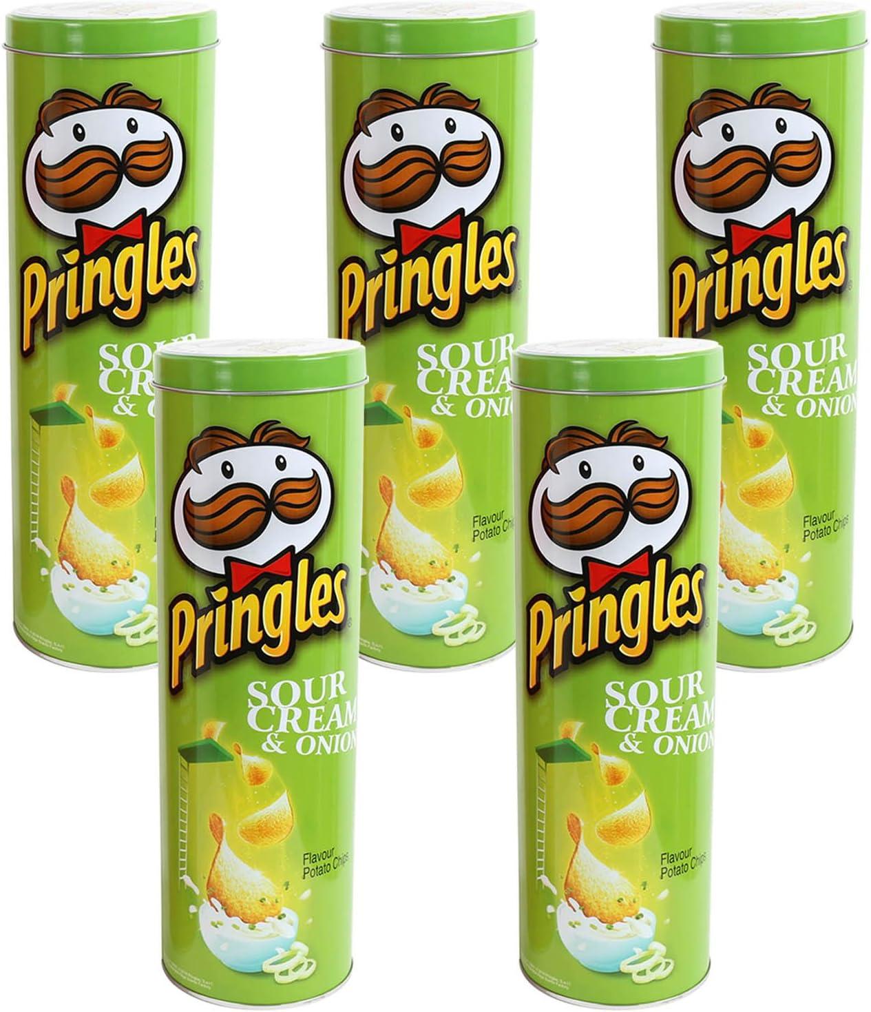 Pack de 5 Pringles verde cilindro redondo contenedor de ...