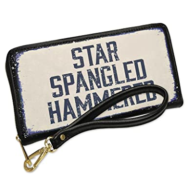 62aa579aa3 Wallet Clutch Star Spangled Hammered Fourth of July Aging Vintage ...