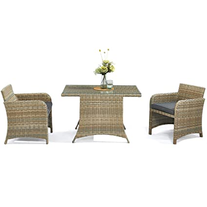 Charmant D+ Garden Stowable Balcony Patio Dining Set For 2, Table And Chairs,  Aluminum Frame