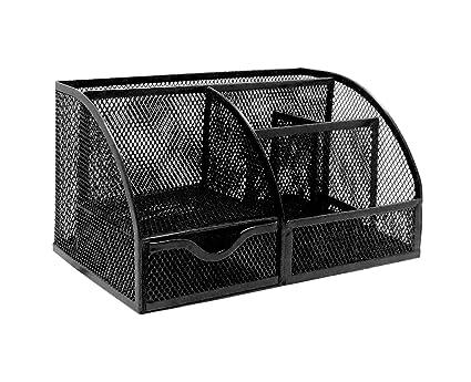 amazon com exerz mesh desk organizer office with 6 compartments rh amazon com mesh desk organizer with drawers mesh desk organizer with sliding drawer black