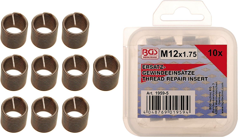 M7 x 1,0 mm BGS 9431-1 25-tlg. Ersatz-Gewindeeins/ätze