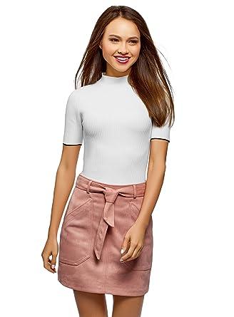 couleur n brillante magasiner pour les plus récents diversifié dans l'emballage oodji Ultra Femme Pull Côtelé avec Col Montant: Amazon.fr ...