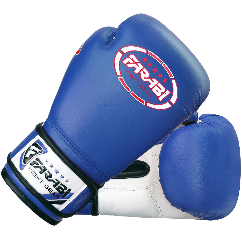Farabi Sports color azul Guantes de boxeo para ni/ños piel sint/ética, 113 g
