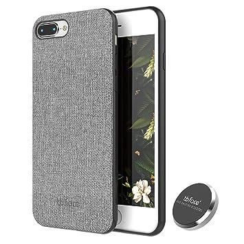 Funda de Magnética Apple iPhone 7 Plus/ iPhone 8 Plus Carcasa Patrón de tela Cover de teléfono Función Absorbente de Imán Con En coche Imán Poseedor ...