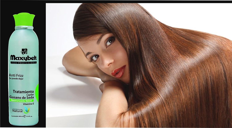 Amazon.com: MAXIBELT-Gusano de seda Shampoo Ayuda en la restauracion de los cabellos maltratados 400ml/13.3oz: Beauty