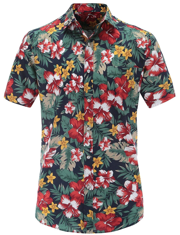 JEETOO Camisa Casual - Clásico - para Hombre