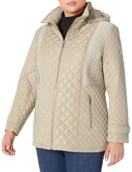 Calvin Klein Women S Plus Size Quilted Jacket With Hood