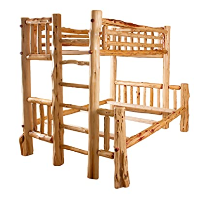 Amazon Com Red Cedar Log Bunk Bed Twin Over Full Kitchen Dining