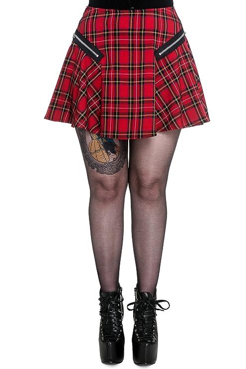 Hell Bunny Minifalda Excile Mini Falda 5314 London Tartan Rojo ...