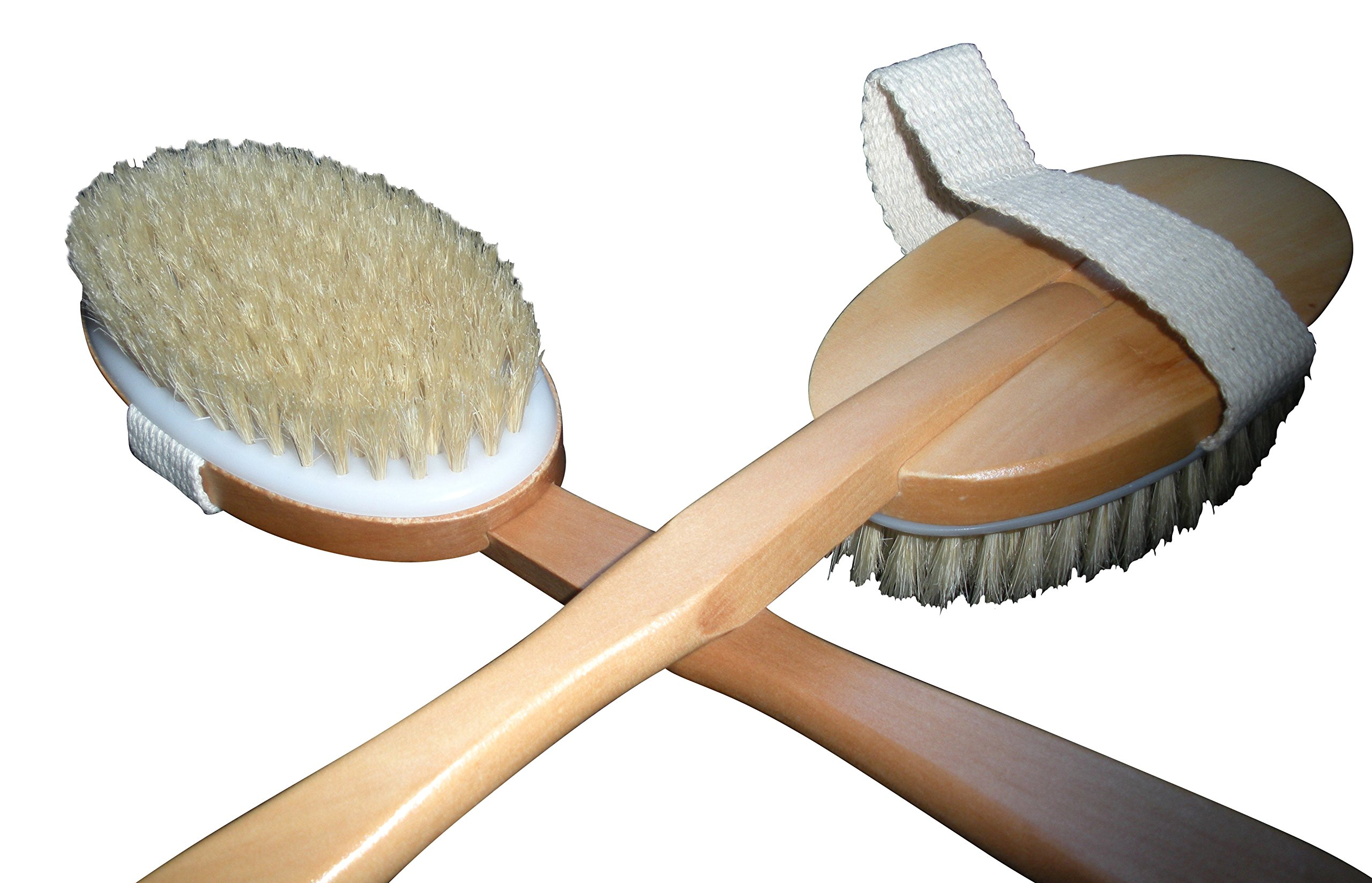3 Brushes/Set Touch Me 100% Natural Boar Bristle detachable Long Handle Wooden Dry Bath Body Back Brush, Contour Handle Dry Body Brush and Facial Complexion Brush, Premium Quality, Perfect Spa Gift by Touch Me (Image #3)