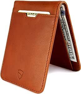 Vaultskin Manhattan slim bifold wallet with RFID protection (Cognac)