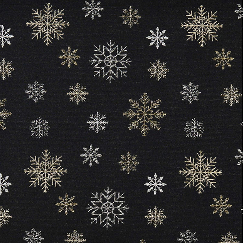 Sander Winter Weihnachten 2018 Tischdecke Theodore, 150x250 cm, Farbe 39- schwarz