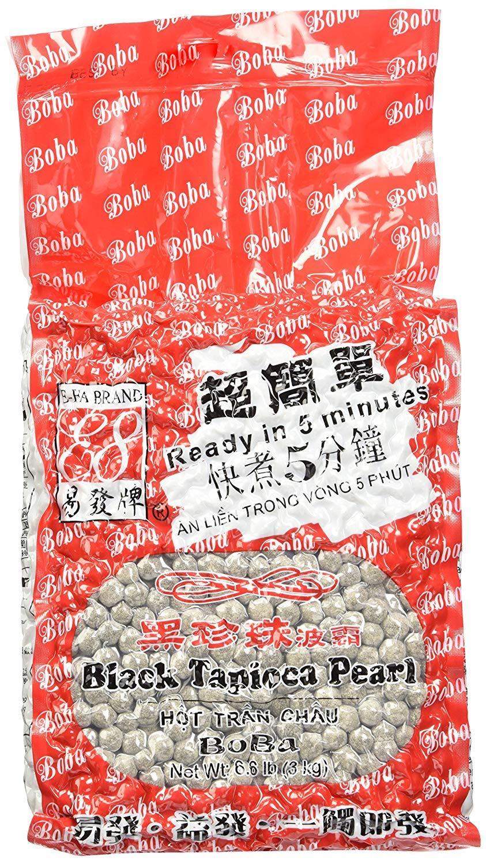 E-Fa Brand Premium Grade Black Tapioca Pearls (6.6 lb) [Bubble Tea]Pack of 4 by FAE