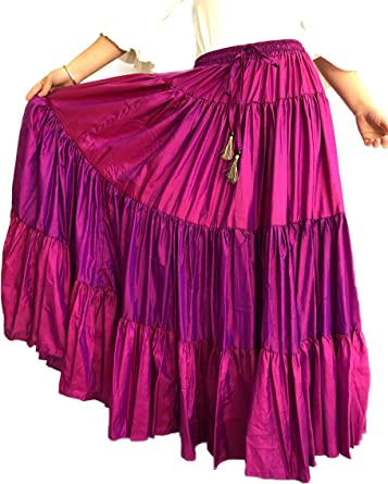 Mercedes Henares Falda para Mujer Modelo Sevilla Color Rosa Fucsia ...