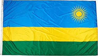 product image for Annin Flagmakers Model 197115 Rwanda Flag Nylon SolarGuard NYL-Glo, 5x8 ft, 100% Made in USA to Official United Nations Design Specifications