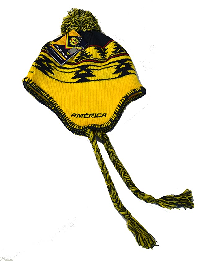 Amazon.com  Club America Beanie Peruvian Skull Cap Hat FMF (Yellow)   Clothing e34a634b8