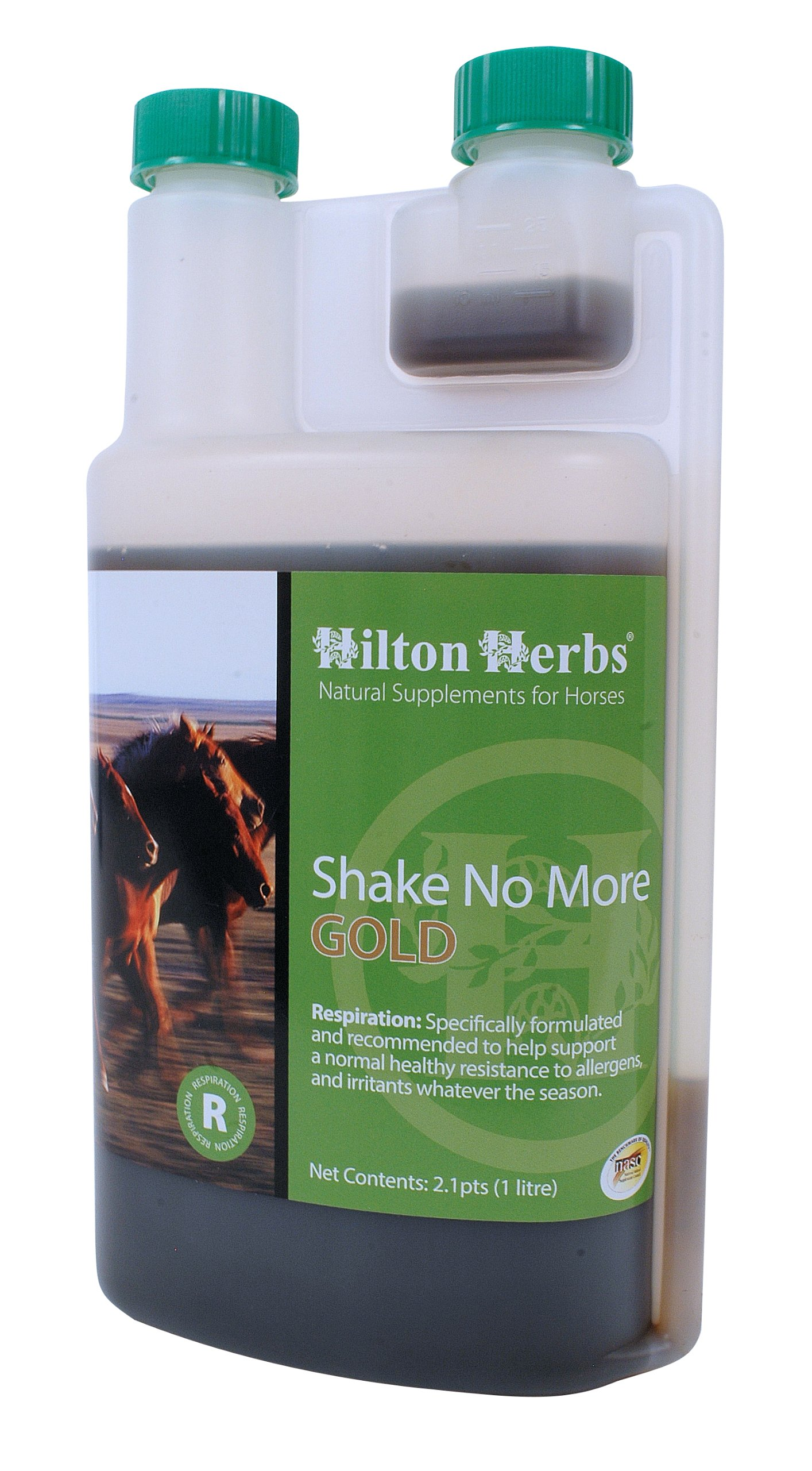 Hilton Herbs Shake No More Gold Allergy Support Supplement for Horses, 2.1pt Bottle by Hilton Herbs