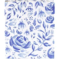 "bloom daily planners 3-Ring Fashion Binder (10"" x 11.5"") - 1 Inch Ring - Blue Floral"