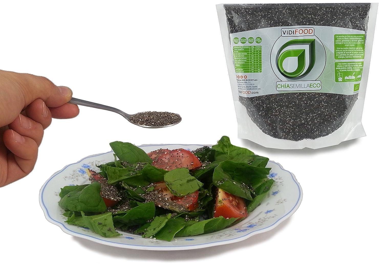 Semillas de Chía ECO Naturales - 2 x 1 kg - Certificado Ecológico - Alta Calidad - Fuente Rica de Omega-3, Fibra y Proteínas - Completamente Natural, ...