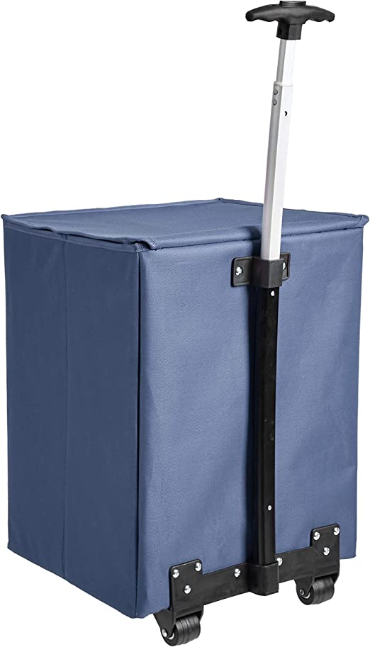 mango de 102/cm de altura azul Carrito para la compra ligero y abatible Basics