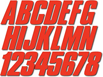 Hypalon//PVC PWC and Boats. Stiffie Shift Black Super Sticky 3 Alpha Numeric Registration Identification Numbers Stickers Decals for Sea-Doo Spark Inflatable Boats Ribs