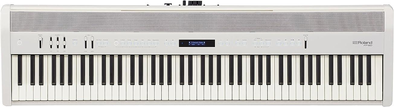 Roland FP-60 88-llaves Piano Digital, Teclado electrónico, Blanco
