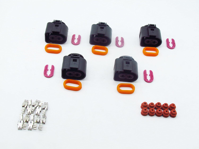 Cnkf 10 set Bosch 2 pin way impermeabile iniettori connettore per VW Audi kaifa elec