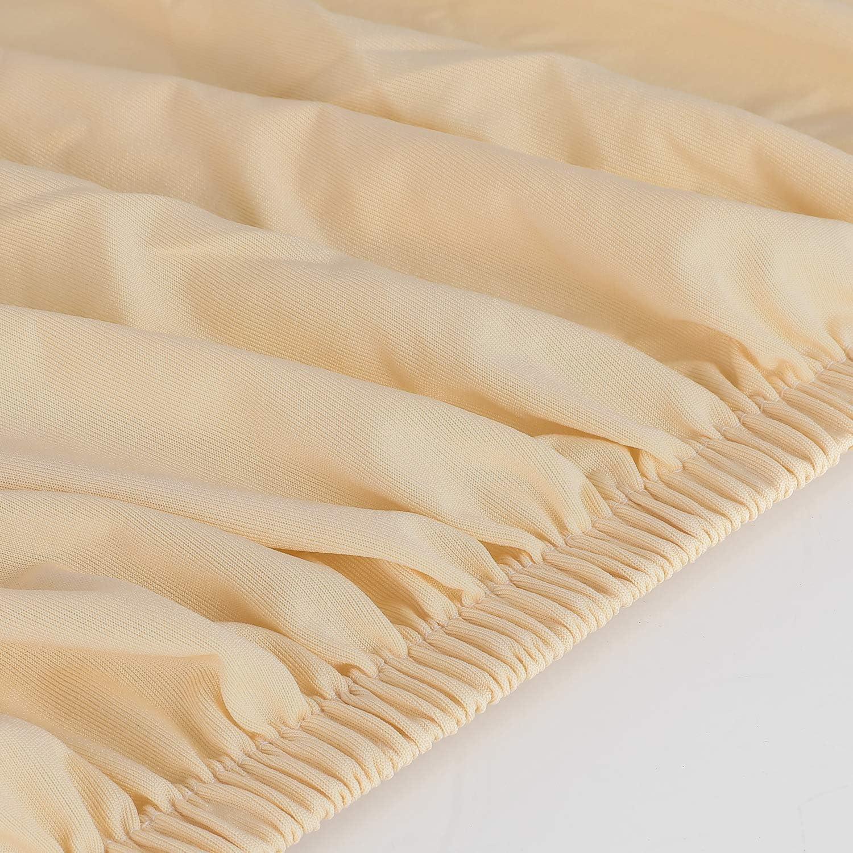 Albicocca, per Lunghezza Divano 130-170 cm Femor Copridivano 2 Posto Antiscivolo Fodera Protettiva in Elastico per Divano